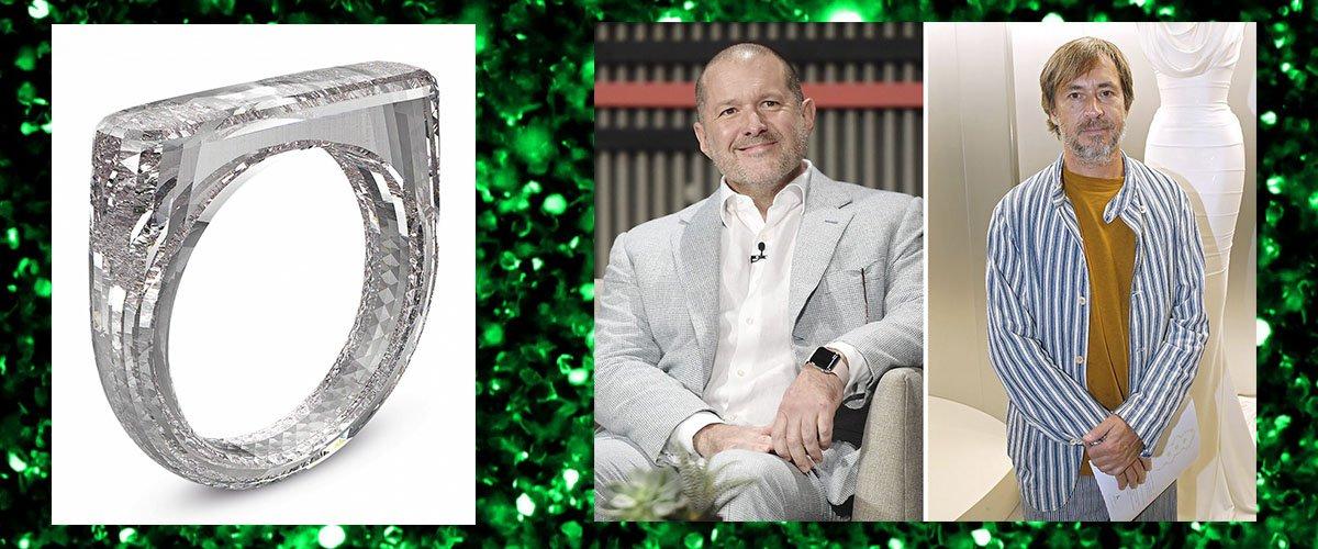 бриллиантовое кольцо Apple