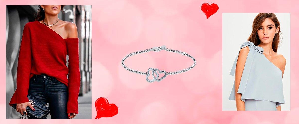 серебряный браслет с сердечками