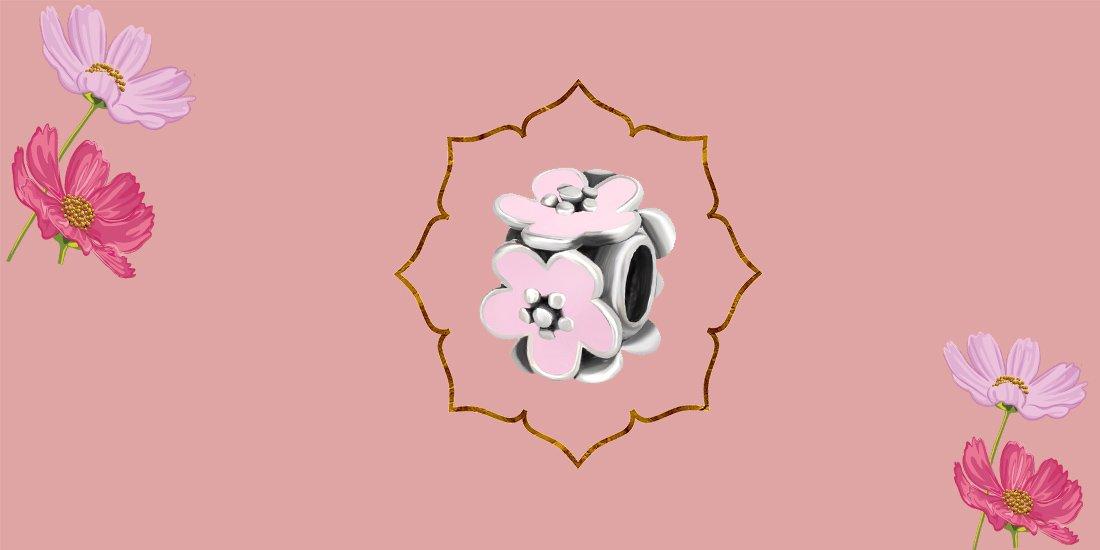 шарм для браслета цветок
