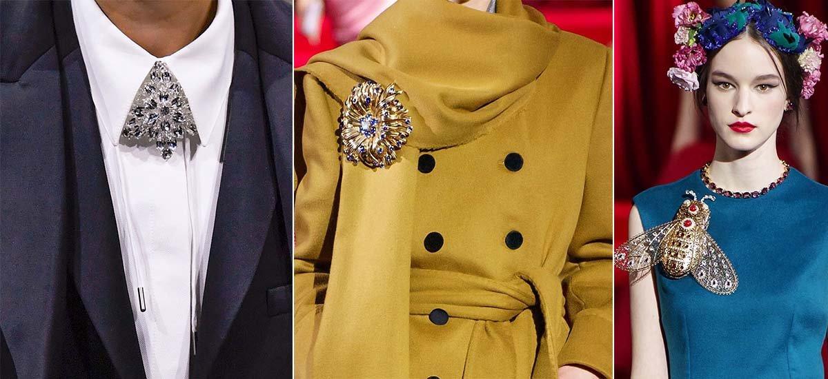 модные броши осень зима 2019 2020