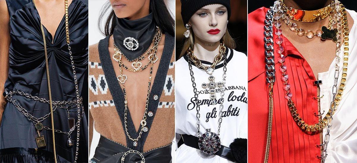 как носить цепочки модно