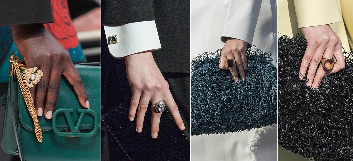 как носить кольца осень зима 2019
