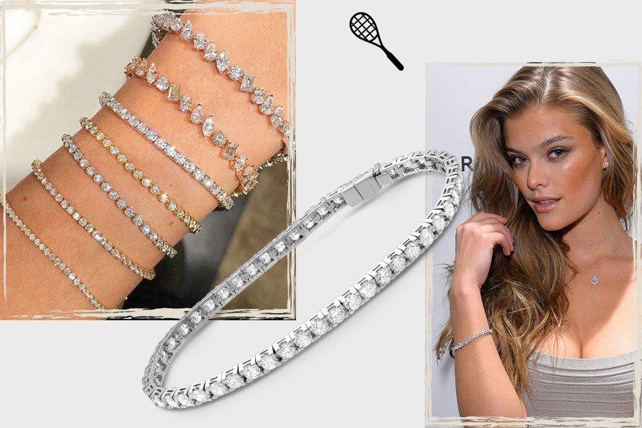 теннисный браслет с бриллиантами