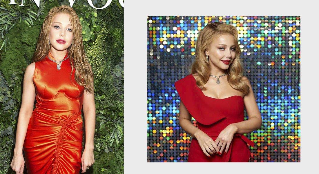 тина кароль в красном платье