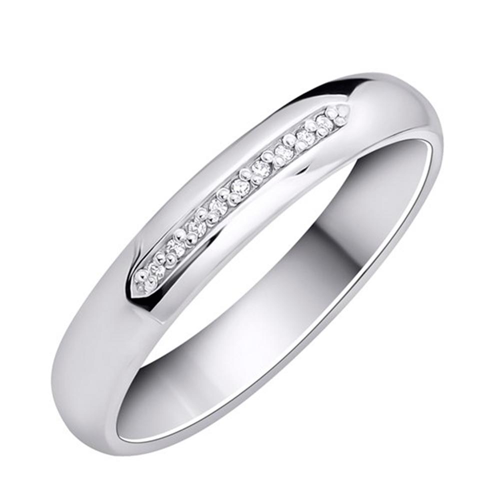 91a0054baaa3 Обручальное кольцо Укрзолото из белого золота с бриллиантом UZ25295