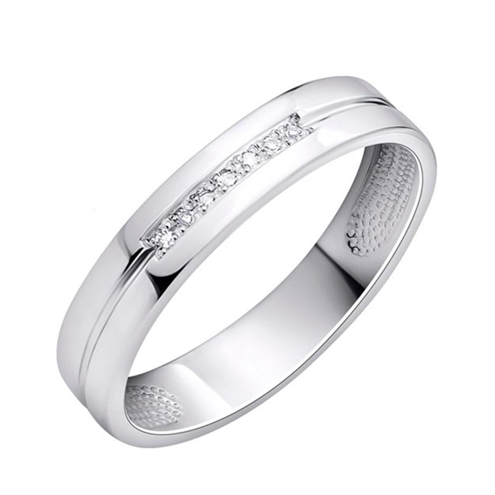 Обручальное кольцо Укрзолото из белого золота с бриллиантом UZ25296 0135f57dea8